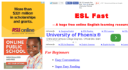 ESL Fast - A free online English learning resource