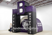 Bonham Warriors Inflatable Football Tunnel Arch Combo
