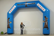 Muddy Monk Inflatable Arch for Trail Running Events