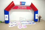 American Cancer Society Inflatable Race Archway; Hexiarch Style