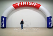 Eye-Q Cares Inflatable Archway Start and Finish Line for the California Classic Marathon