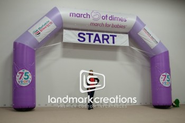 March of Dimes Inflatable Race Arch