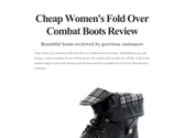 Cheap Women's Fold Over Combat Boots Review