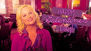 Leslie celebrates Galentine's Day!