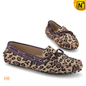 Leopard Print Moccasins Loafers for Women CW314115