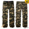 Army Green Camouflage Cargo Pants for Men CW100057