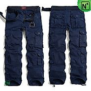 Mens Navy Cargo Pants