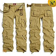 Mens Khaki Work Cargo Pants