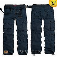 CWMALLS Blue Hiking Cargo Pants CW100013
