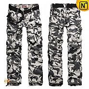 CWMALLS Mens Camouflage Cargo Pants CW100059