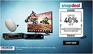 Upto 40% Off On Complete Entertainment TVs & DTH Services Grab the deal @ http://goosedeals.com/home/details/snapdeal...