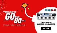 Deal Gone In 60mins on Casio MA -150 Electronic Keyboard 1 Product, 1 Hour, 1 Amazing Product Grab the deal @ ...