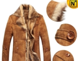 Mens Sheepskin Shearling Coat CW833080 - cwmalls.com