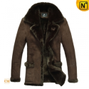Sheepskin Leather Lamb Fur Coat CW819139 - cwmalls.com