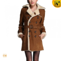 Double Breasted Women Leather Fur Coat CW695161 - cwmalls.com