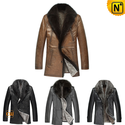 Mens Leather Fur Coat CW141473