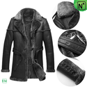 Mens Black Shearling Coats CW878578