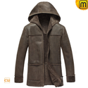 Hooded Sheepskin Jacket for Men CW878092