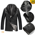 Double Breasted Shearling Sheepskin Coat Men CW868822