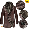 Mens Double Breasted Fur Coat Sheepskin Leather CW868815