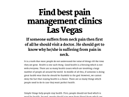 Find Best Pain Management Clinics Las Vegas