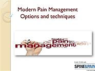 Modern Pain Management Options and techniques