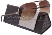 GUCCI GG1933/S Aviator Sunglasses Gold Havana/Brown Gradient (0EW0) 1933/S EW0 YY 63mm Authentic