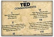 Speakers, follow the 10 TED Commandments