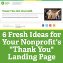 "6 Fresh Ideas for Your Nonprofit's ""Thank You"" Landing Page"