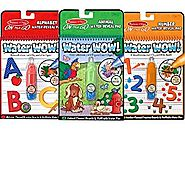 Melissa & Doug On The Go Water Wow Bundle Animals, Alphabet and Numbers (Ages 3-6)