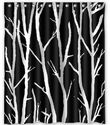 "BravoVision Fashion Custom Special Design Tree in Black and White Waterproof Fabric Bath Shower Curtain 60"" x 72"""