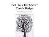 Best Black Tree Shower Curtain Designs
