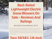 Best-Rated Lightweight Electric Snow Blowers On Sale - Reviews And Ratings