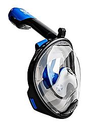 Seaview 180° GoPro Compatible Snorkel Mask- Panoramic Full Face Design. See More With Larger Viewing Area Than Tradit...