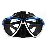 TELESIN Silicone Diving Glass With Detachable Screw Mount Diving Mask Scuba Snorkel Swimming Goggles For Sports Camer...