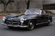 1955 Mercedes-Benz 300SL Coupe. With it's gull wings and timeless design, it's price-tag nowadays is 1 – 2.5 million ...