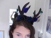 Gothic Antler Head Dress-Cut Out and Keep