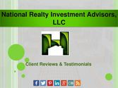 Client Reviews & Testimonials of National Realty Investment Advisors, LLC