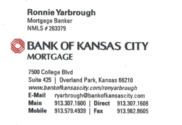 Ron Yarbrough - Mortgage Banker - 913-307-1608