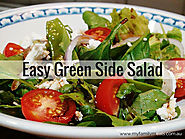 Easy Green Side Salad