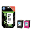 HP 300 Multipack Of Black & Tri Colour Ink Cartridges (CN637EE) Original