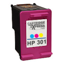 HP 301 Tri Colour Ink Cartridge (CH562EE) Remanufactured 2x More Ink