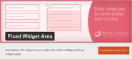 Fixed Widget Area WordPress Plugin