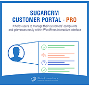 WordPress SugarCRM Customer Portal Pro, designed to manage customers' complaints