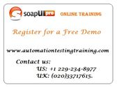 Web Services Testing Online Training | SoapUI Training Online