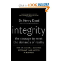 Integrity: The Courage to Meet the Demands of Reality: Henry Cloud: 9780060849696: Amazon.com: Books