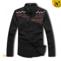 Fashion Black Long Sleeve Shirt CW1290 - cwmalls.com