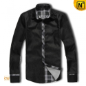 Fashion Black Long Sleeve Shirt CW1277 - cwmalls.com