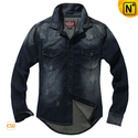 Retro Long Sleeve Denim Shirts for Men CW114301