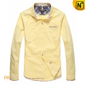 Mens Cotton Long Sleeve Button Down Shirts CW114701